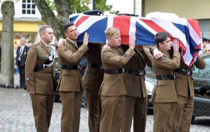 funeral of Camborne soldier Dave Curnow